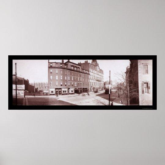Street Hotel Boston, MA Photo 1903 Poster