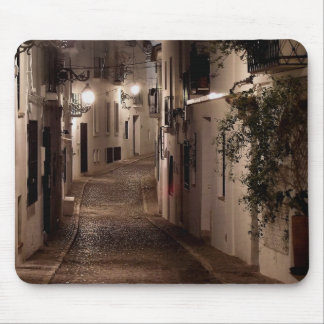 Street illuminated by lights, Altea Mouse Pad