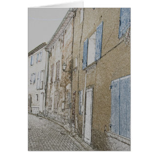 street in an old village in the Provence Card