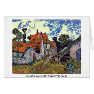 Street In Auvers By Vincent Van Gogh Greeting Cards