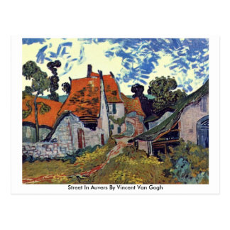 Street In Auvers By Vincent Van Gogh Post Card