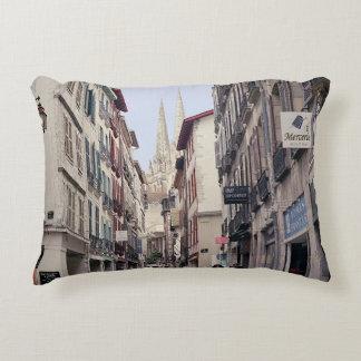 Street in Bayonne Decorative Pillow