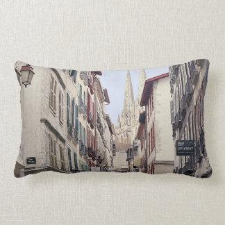 Street in Bayonne Lumbar Pillow