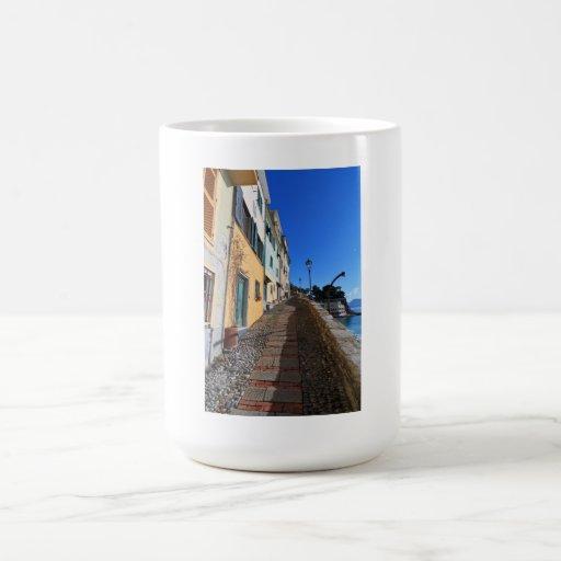 street in Bogliasco, Liguria, Italy Coffee Mugs
