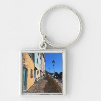 street in Bogliasco, Liguria, Italy Keychain