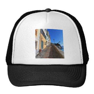 street in Bogliasco, Liguria, Italy Trucker Hat