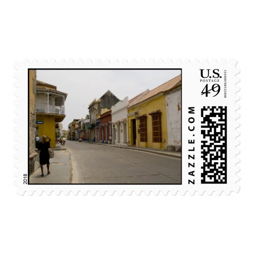 Street in Cartagena, Colombia Postage Stamps