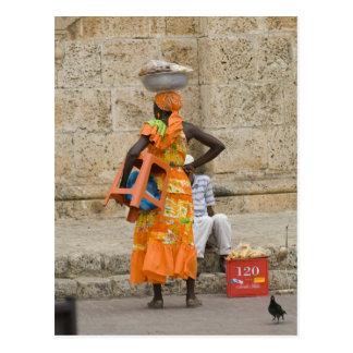 Street in Cartagena, Colombia Postcard