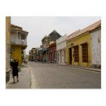 Street in Cartagena Post Card