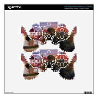 Street in Essoyes by Pierre-Auguste Renoir PS3 Controller Decal
