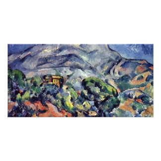 Street In Front Of The Mountain Sainte Victoire Personalized Photo Card