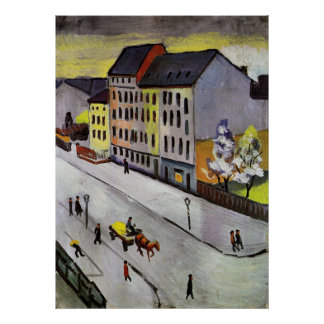 Street in Gray by August Macke Poster