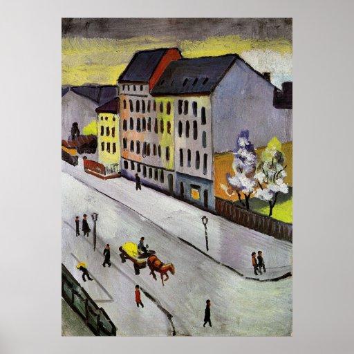 Street in Gray by August Macke Print