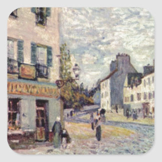Street in Marly by Alfred Sisley Square Sticker