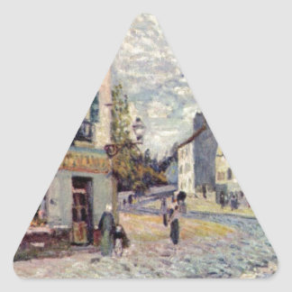 Street in Marly by Alfred Sisley Triangle Sticker