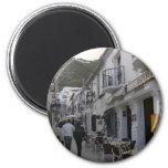 Street in Mijas, Spain Fridge Magnets