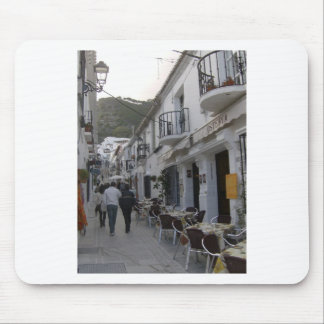 Street in Mijas, Spain Mouse Pad