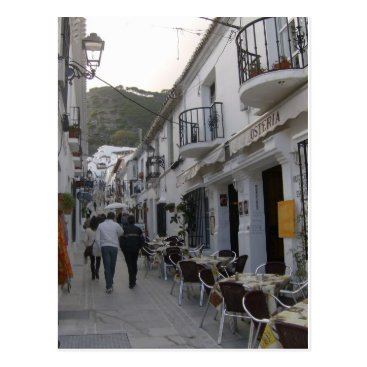 Beach Themed Street in Mijas, Spain Postcard