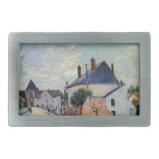 Street in Moret by Alfred Sisley Rectangular Belt Buckle