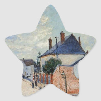 Street in Moret by Alfred Sisley Star Sticker