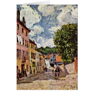 Street In Moret-Sur-Loing By Alfred Sisley Greeting Card