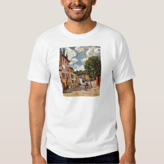 Street in Moret Sur Loing by Alfred Sisley T-shirts