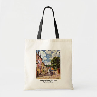 Street In Moret-Sur-Loing By Sisley Alfred Canvas Bag