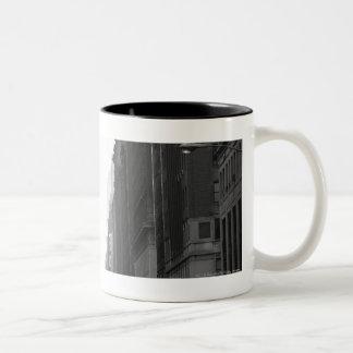 Street in NY city B&W Two-Tone Coffee Mug