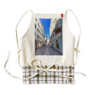Street in old city, Linz, Austria Zazzle HEART Apron