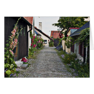 Street in old Visby Sweden Card