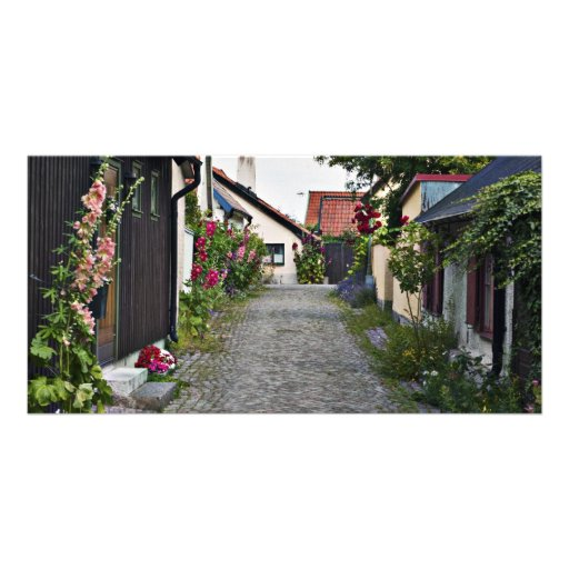 Street in old Visby Sweden Photo Card