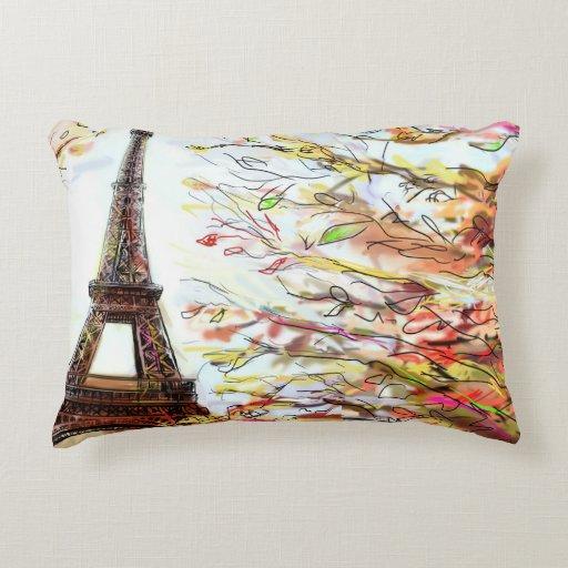 Street In Paris - Illustration 2 Accent Pillow