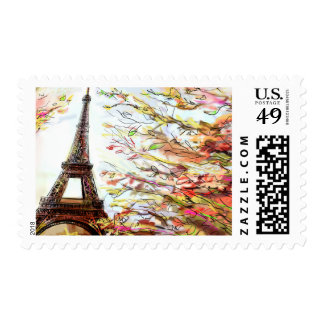 Street In Paris - Illustration 2 Postage