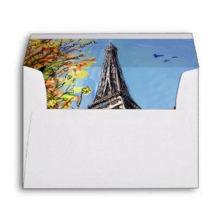 Street In Paris - Illustration Envelope