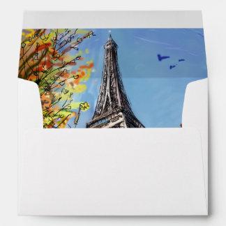 Street In Paris - Illustration Envelopes