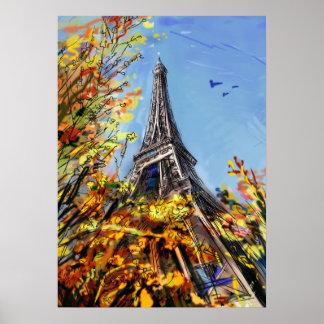 Street In Paris - Illustration Poster
