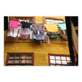 Street in Porto with laundry Photo Print
