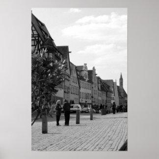 street in regensburg2 poster