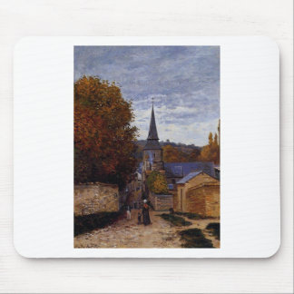 Street in Saint-Adresse by Claude Monet Mouse Pad