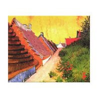 Street in Saintes-Maries by Vincent van Gogh Stretched Canvas Print