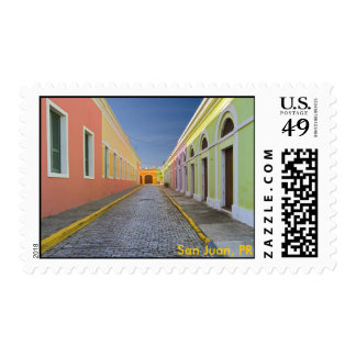 Street in San Juan, Puerto Rico, San Juan, PR Stamp