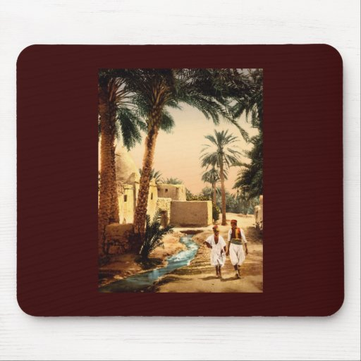 Street in the old town Biskra Algeria Mousepad