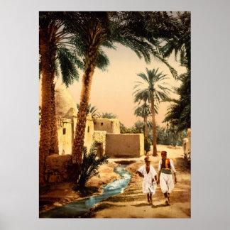Street in the old town Biskra Algeria Poster
