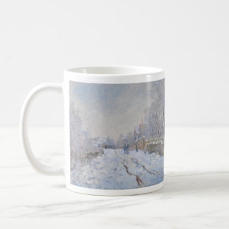 Street in the Snow Argenteuil by Claude Monet Coffee Mug