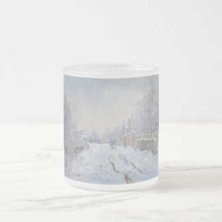 Street in the Snow Argenteuil by Claude Monet Frosted Glass Coffee Mug
