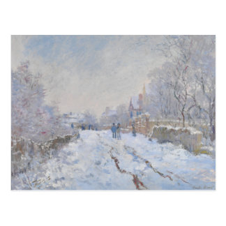 Street in the Snow Argenteuil by Claude Monet Postcard