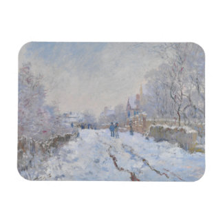Street in the Snow Argenteuil by Claude Monet Rectangular Photo Magnet