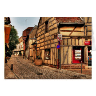 Street in Troyes France Greeting Card