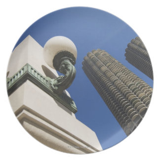 Street lamp detail at Marina City Towers Chicago Melamine Plate