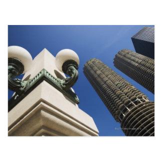 Street lamp detail at Marina City Towers Chicago Postcard